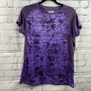 Marmot purple activewear t-shirt